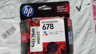 Hp  678 tri colour ink cartridge  at low price