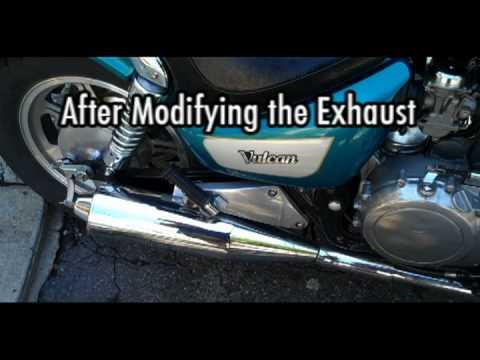 kawasaki vulcan 500 easy exhaust mod - youtube