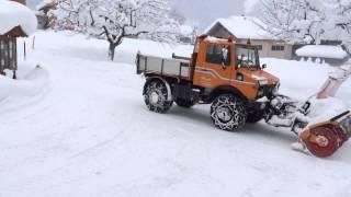 Unimog mit Schneefräse. 31.12.2014