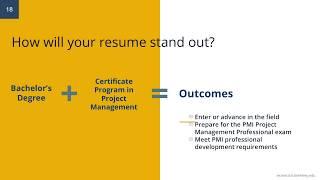 Certificate Program In Project Management Online Information Session