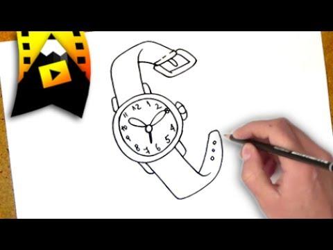 como dibujar un reloj  como dibujar un reloj paso a paso  YouTube