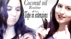 My coconut oil treatment for tape in extensions :)