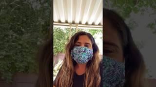 Indira's mensaje sobre el uso de cubre bocas