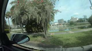 4K 60fps: Driving into and around Downtown Orlando, FL July 2019