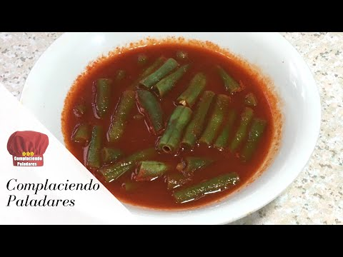 Ejotes en chile colorado | Green beans in a Chili broth