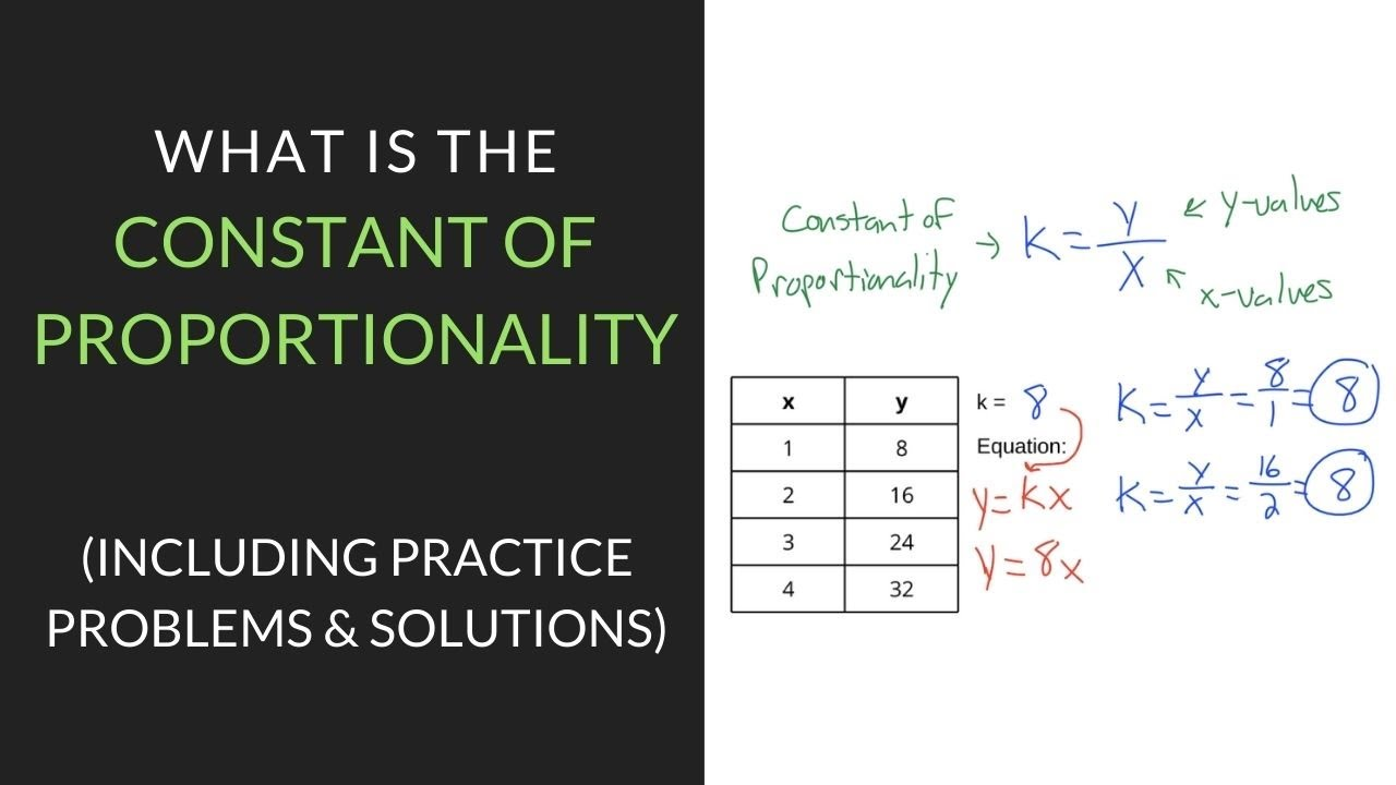 small resolution of How to find the Constant of Proportionality   Mathcation