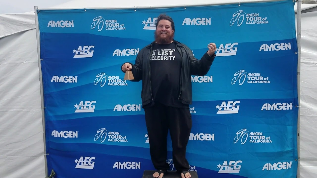 Famous Celebrity Joseph Carrillo Promoting Amgen Tour of ...