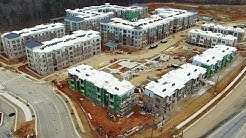 Updated Aerial Views of Carraway Village Construction at NC 86 & Eubanks Rd #3- Chapel Hill, NC