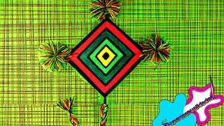 Ojo de Dios huichol (mandala 4 puntas) ♦SUPERMANUALIDADES♦