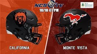 California vs Monte Vista High School Football LIVE 10/18/19