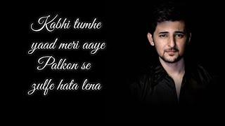 Kabhi Tujhe Lyrical song Shershah| Darshan Raval| sidharth-kaira