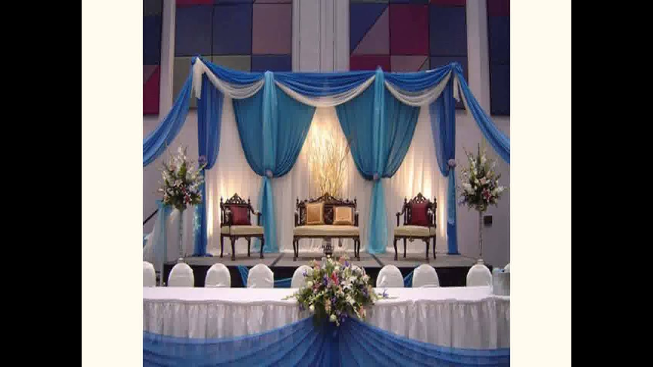 Decoration ideas for wedding reception new youtube for Wedding home decoration ideas