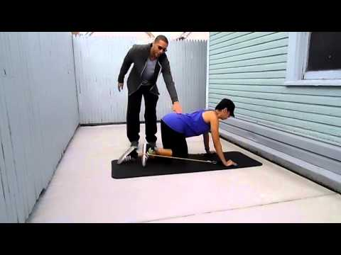 Glute Kickback with resistance band