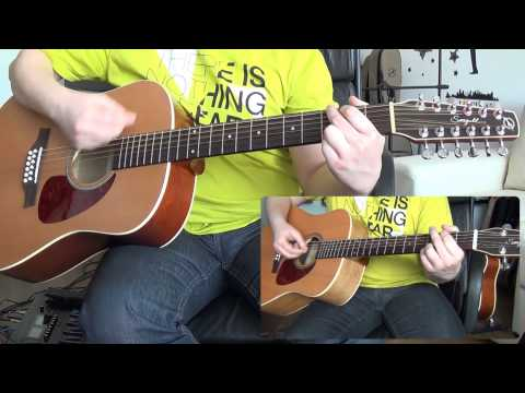 Pink Floyd - Wish You Were Here (12 string guitar cover with solos) HD