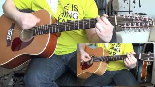 Video Pink Floyd - Wish You Were Here (12 string guitar cover with solos) HD download MP3, 3GP, MP4, WEBM, AVI, FLV Maret 2017