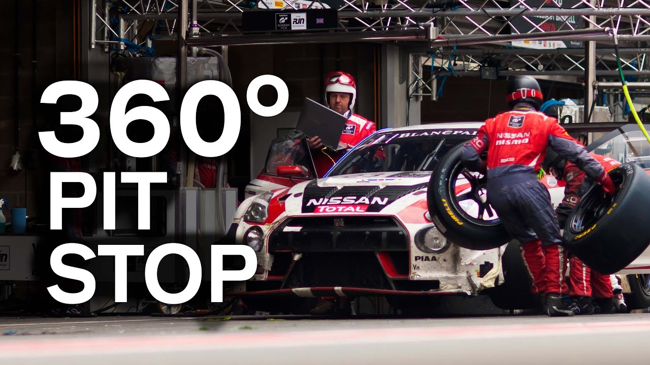 first ever 360 pit stop gt r gt3 during spa 24 hour 360 degree vr youtube. Black Bedroom Furniture Sets. Home Design Ideas