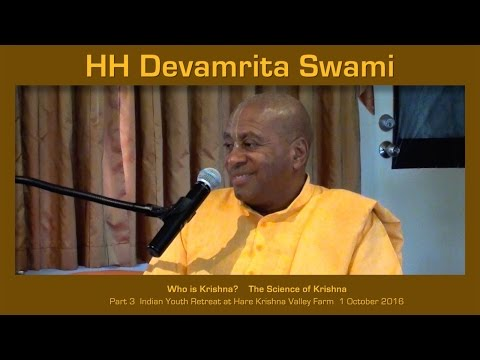 Who is Krishna? -  Part 3 Indian Youth Retreat with HH Devamrita Swami