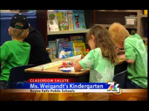 7&4 Classroom Salute- Ms Weigandt's Kindergarten at Boyne Falls Public Schools