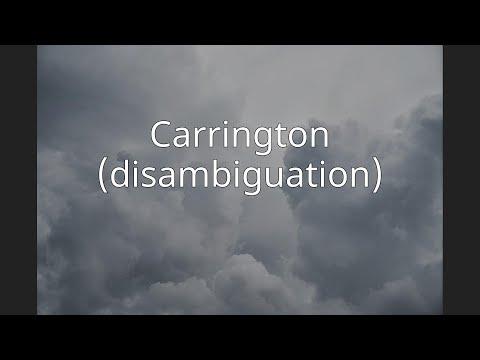 Carrington (disambiguation)
