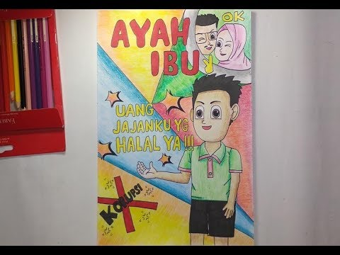 Cara Mewarnai Gambar Poster Tema Anti Korupsi How To Color An Anti Corruption Theme Poster