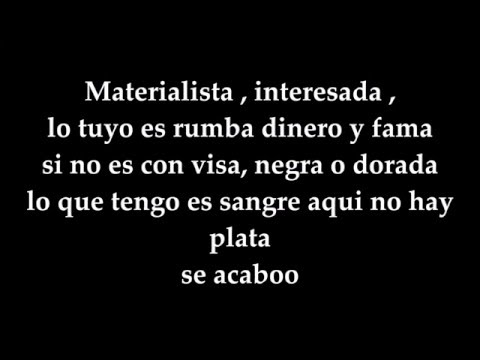 Materialista Letra - Nicky jam ft Silvestre Dangond (Video oficial)