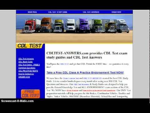 Free Cdl Practice Test Online Cdl Practice Test Free Youtube