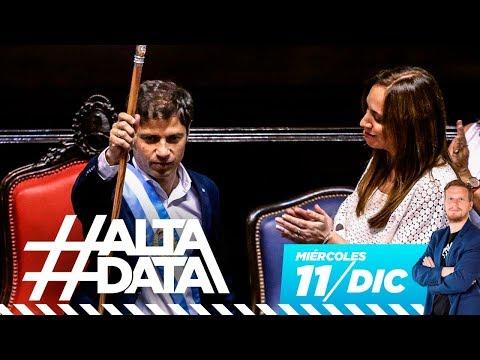 Vidal ya fue: Axel Kicillof es gobernador de Buenos Aires | #AltaData, todo lo que pasa en un toque