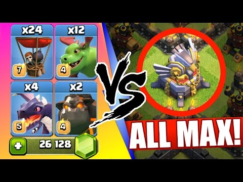 Clash Of Clans | ALL NEW MAX AIR TROOPS vs EAGLE ARTILLERY! | Baby Dragons, Balloons & Lava Hounds!