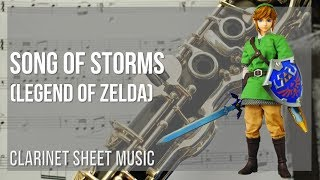 EASY Clarinet Sheet Music: How to play Song of Storms (Legend of Zelda) by Koji Kondo