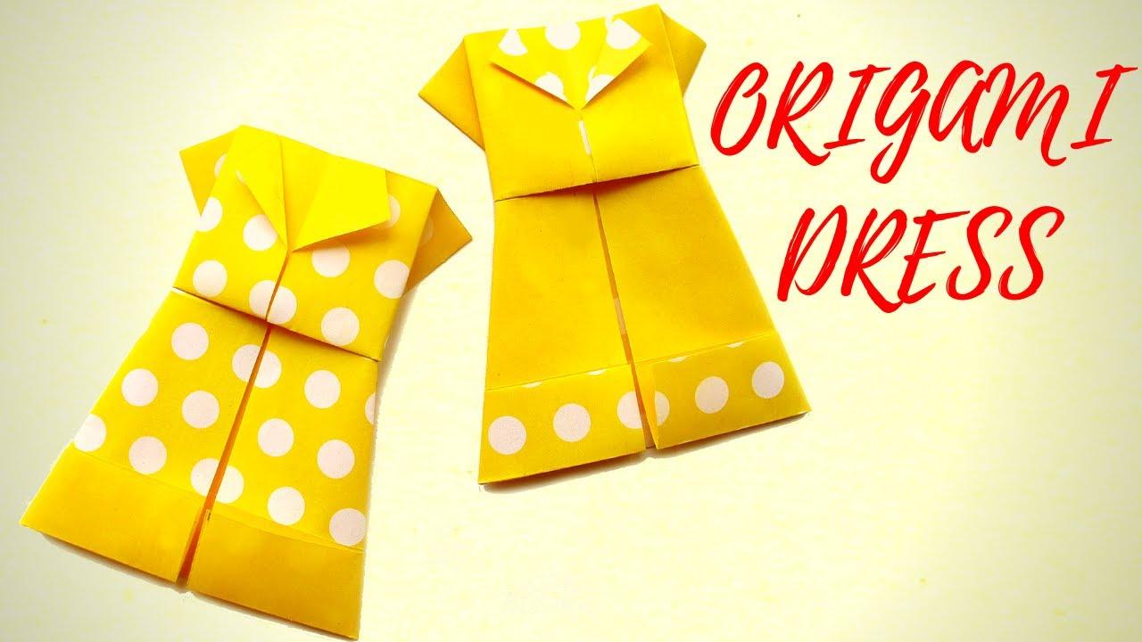 ORIGAMI DRESS l How to Make Origami Dress  l Paper Dress l Hand Made