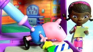 Pig George Toma Vacina no Bumbum Clínica Doutora Brinquedos Novelinha em Portugues Disney Baby toys