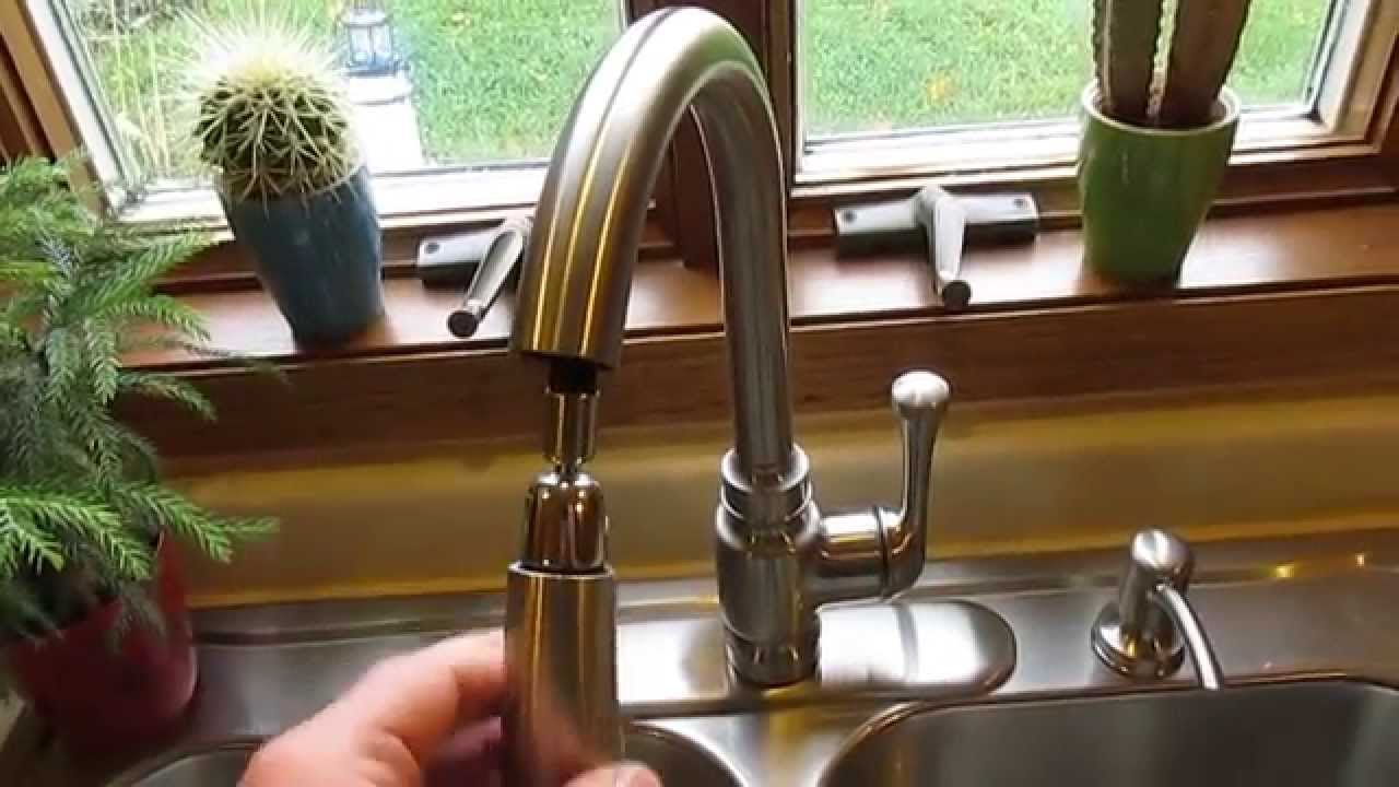 Kohler Carmichael Single Handle Pull Down Sprayer Kitchen Faucet In  Stainless Steel   YouTube