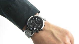 emporio armani chrono watch ar2434
