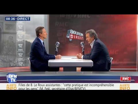 """NDA dans Bourdin direct :""""au débat j'aurais rappelé à Macron qu'il a été l'inspirateur de Hollande"""""""