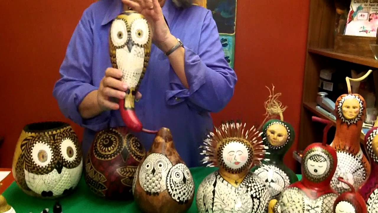 Spirit Dolls ~ Zentangle on Gourds with Suzanne McNeill