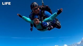 Самая юная экстремалка-парашютистка