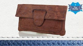 Женский модный кожаный клатч-трансформер коричневый ETERNO. Купить в Украине. Обзор