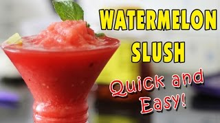 Watermelon Slush - Easiest Summer Coolers | Kanak's Kitchen [hd]