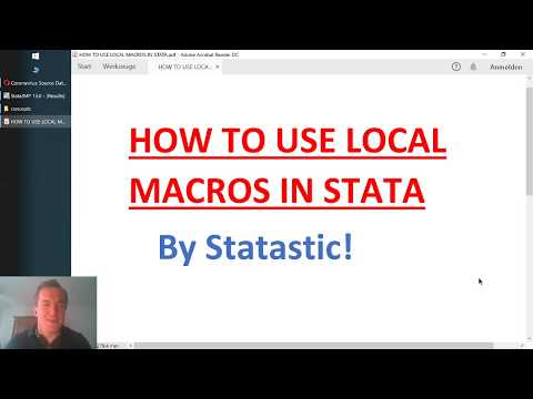 Stata Basics #7: How to Use Local Macros in Stata (using COVID-19 data)