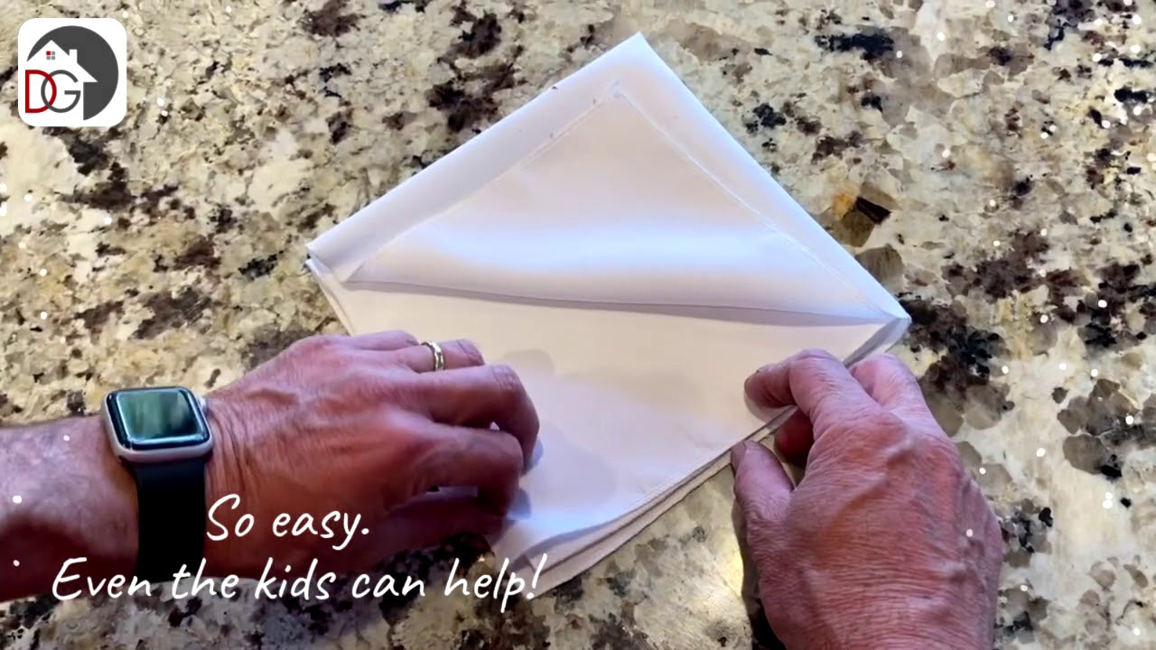 Home for the Holidays! Napkin Folding: Holiday Hero Edition!