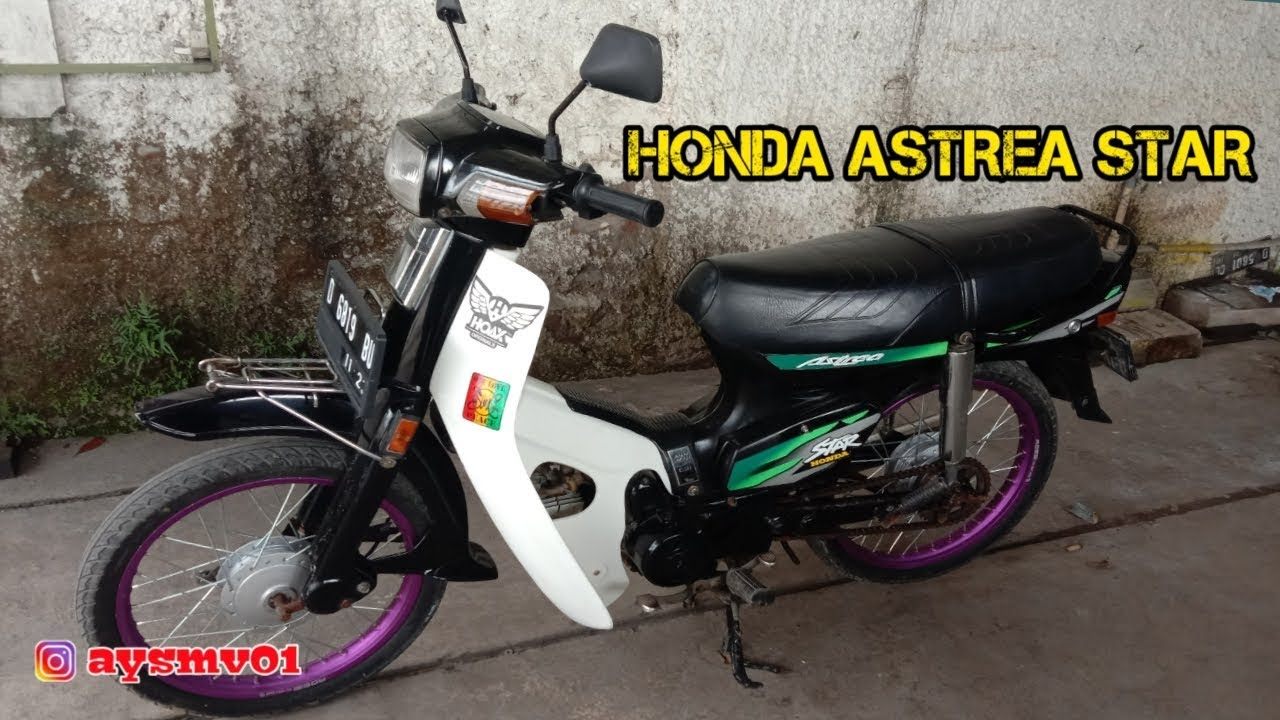 Honda Astrea Star 86 Pake Velg Rossi Modifikasi Simple 37 Youtube