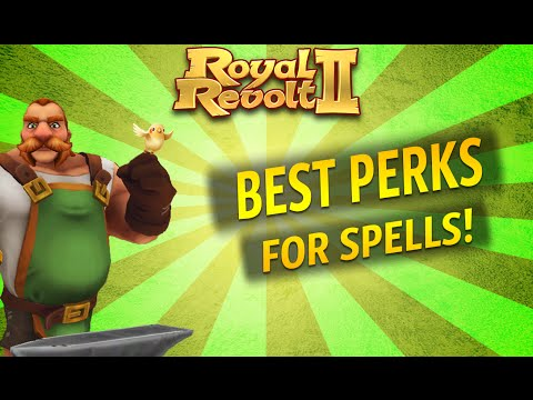 Royal Revolt 2 - Best Perks For Spells!