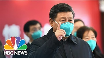 Watch China's State TV Report On President Xi Visiting Wuhan – The Coronavirus Epicenter | NBC News