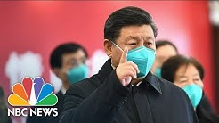 Watch China's State TV Report On President Xi Visiting Wuhan – The Coronavirus Epicenter   NBC News