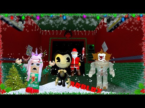 ROBLOX SCARY ELEVATOR ITS CHRISTMAS WITH BENDY AND THE INK MACHINE