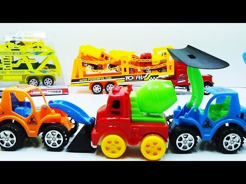 Kids chanel - Supper Excavator truck,crane truck and bulldozers collection | Video for kids