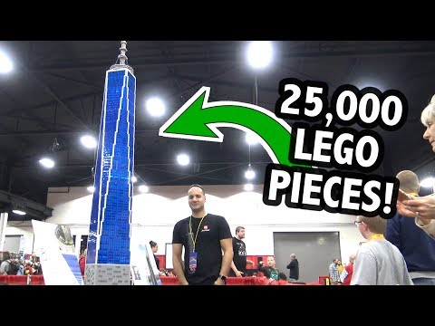 Huge LEGO One World Trade Center Tower – 8 Feet/2.4M Tall!