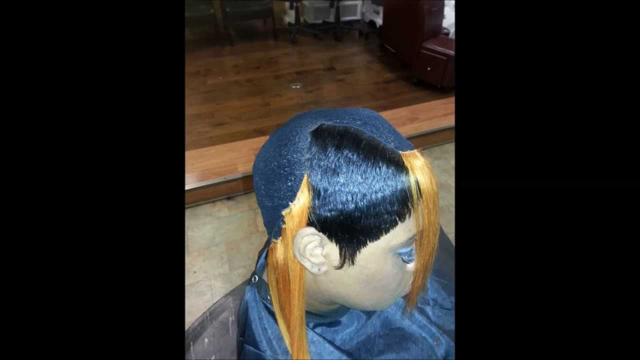 "27 piece quickweave, cap weave **boy bob (long)** ""protective requirements"""