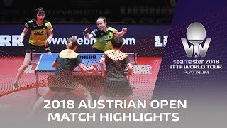 Mima Ito/Hina Hayata vs Sun Yingsha/Chen Xingtong I 2018 ITTF Austrian Open Highlights (Final)