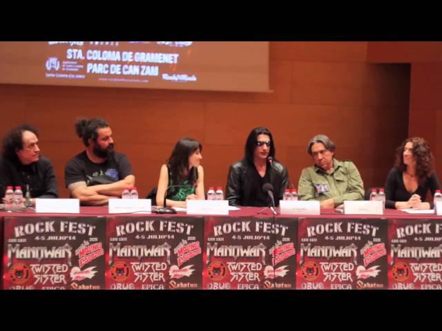 Joey DeMaio de Manowar en la rueda de prensa de Rock Fest Bcn.